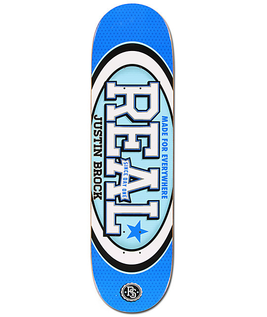 "Real Brock Champion Oval 8.38""  Skateboard Deck"