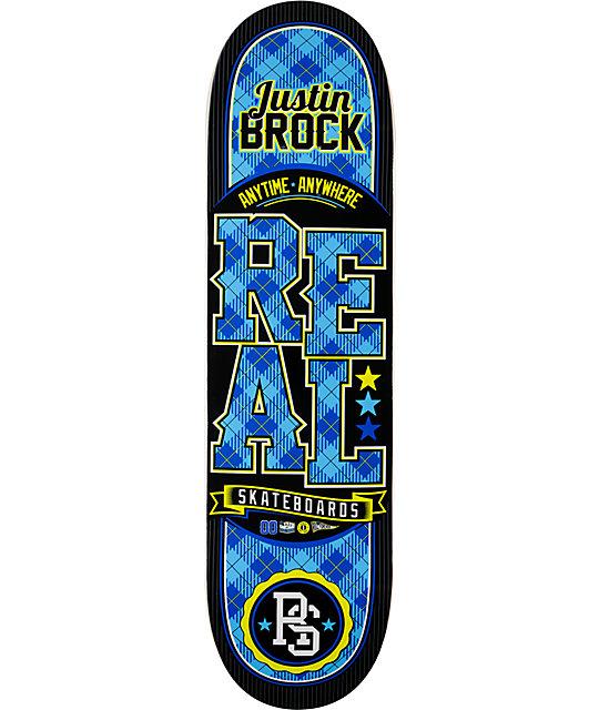 "Real Brock Low Pro Plaid  8.37""  Skateboard Deck"