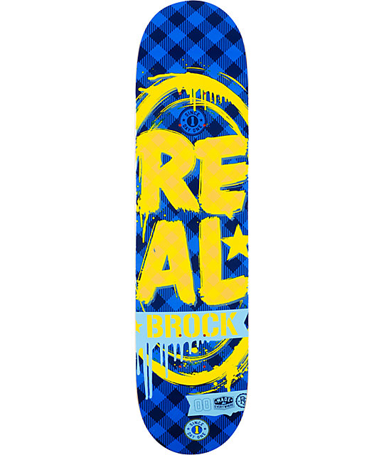 "Real Brock Paint The Town R1 7.75""  Skateboard Deck"