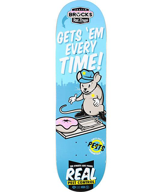 "Real Brock Pest Control R1 8.38""  Skateboard Deck"