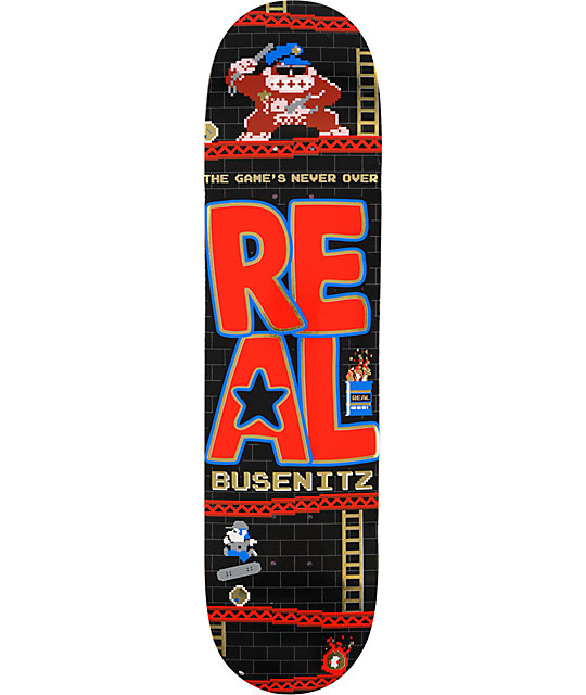 "Real Busenitz The Games Never Over 8.02""  Skateboard Deck"