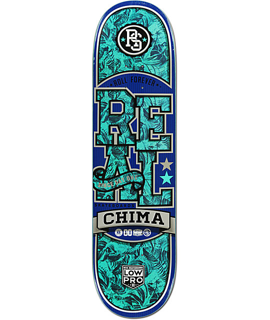 "Real Chima Low Pro 8.25""  Skateboard Deck"