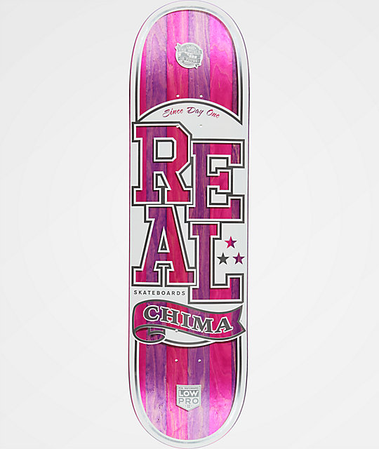 "Real Chima Spliced Low Pro II 8.4"" Skateboard Deck"