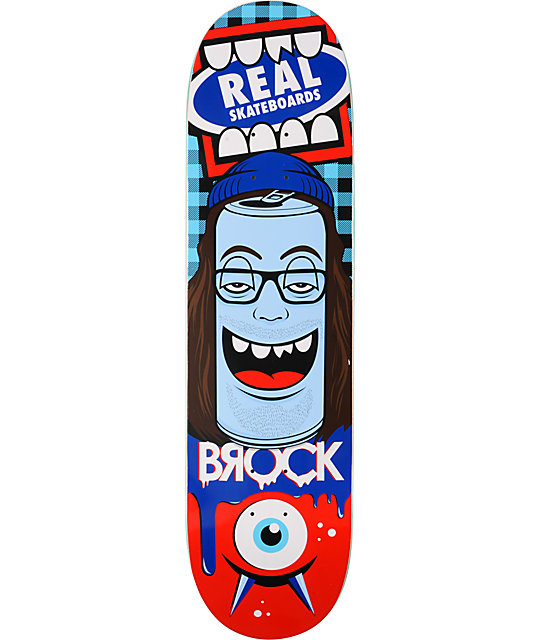 "Real Greg Mike Brock Canface 8.25""  R1 Construction Skateboard Deck"