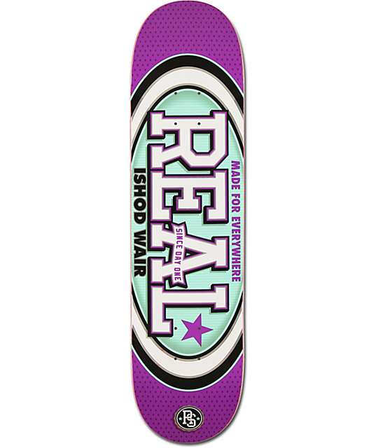 "Real Ishod Ware Champion Oval R1 Construction 8.0""  Skateboard Deck"