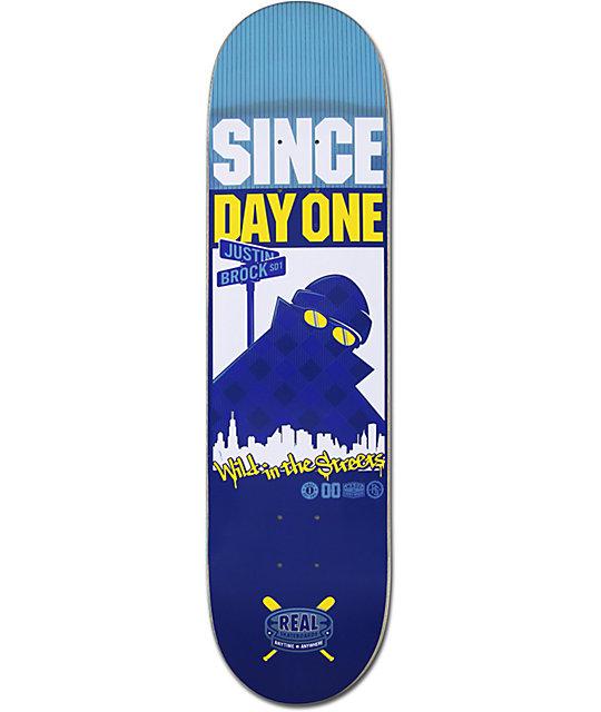 "Real Justin Brock Hoodwatch 8.25""  Skateboard Deck"