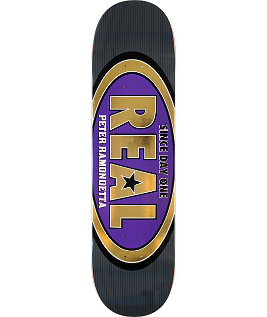 "Real Ramondetta Classic Oval R1 Construction 8.25""  Skateboard Deck"