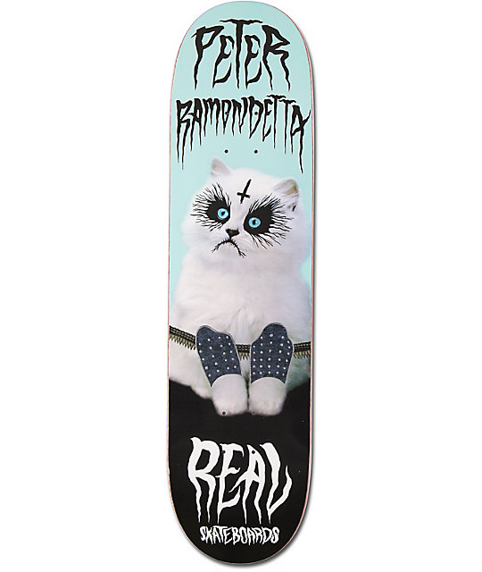 "Real Ramondetta Deathcat 8.0""  Skateboard Deck"