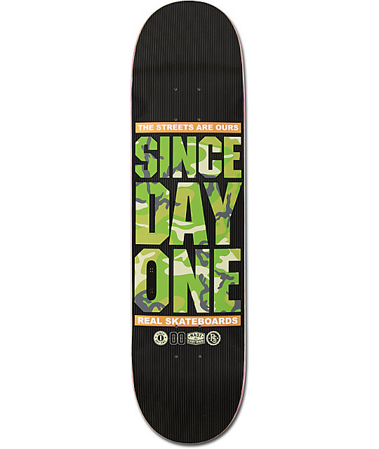 "Real Since Day One Camo 8.0""  Skateboard Deck"