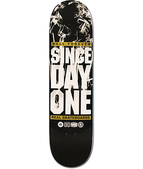 "Real Since Day One Smoke 8.12""  Skateboard Deck"