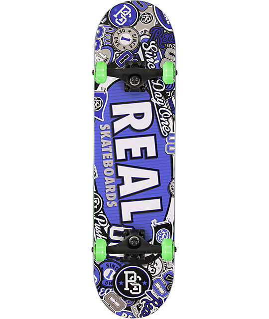 "Real Stick Em Up 8.0""  Skateboard Complete"