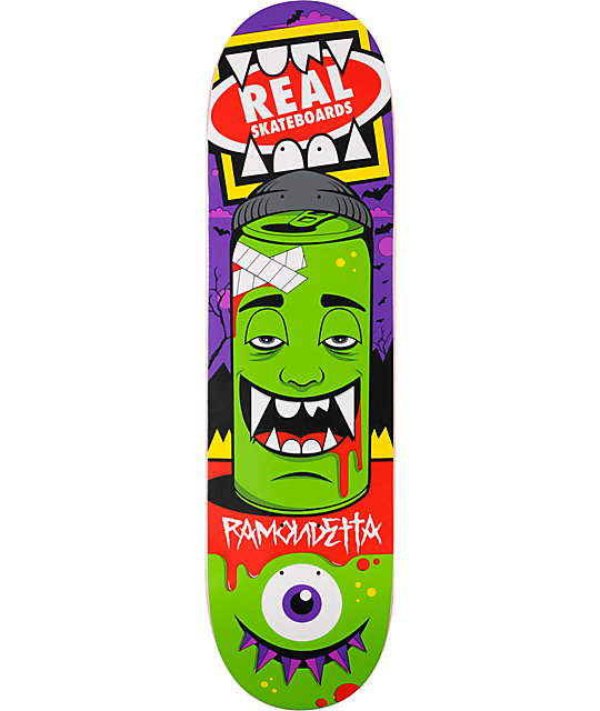 "Real x Greg Mike Ramondetta Canface 8.38""  R1 Skateboard Deck"