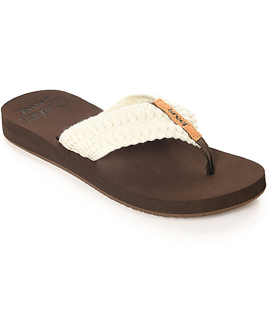 Reef Cushion Threads Vintage White Sandals