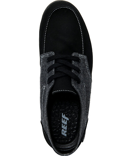 Reef Deck H& 2 Black & Grey Shoes