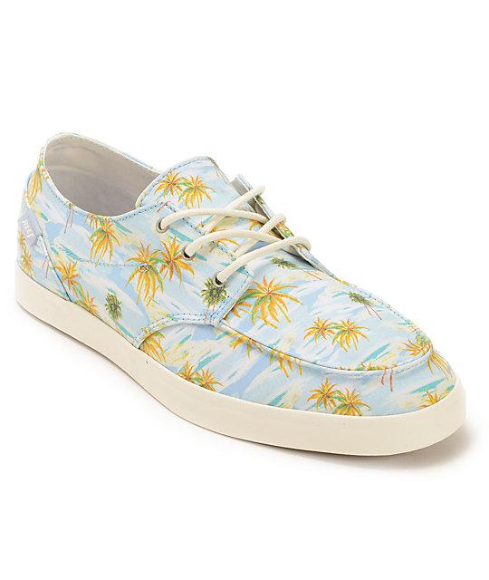 Reef Deckhand  Light Blue Aloha Boat Shoes