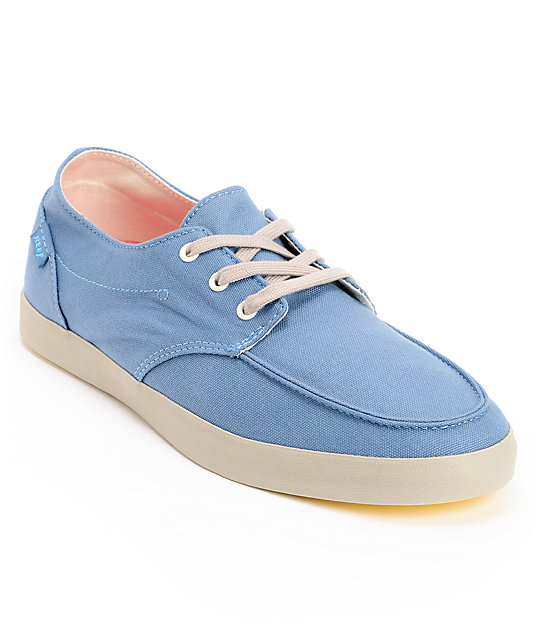 Reef Deck Hand 2 Light Blue Canvas Boat Shoes