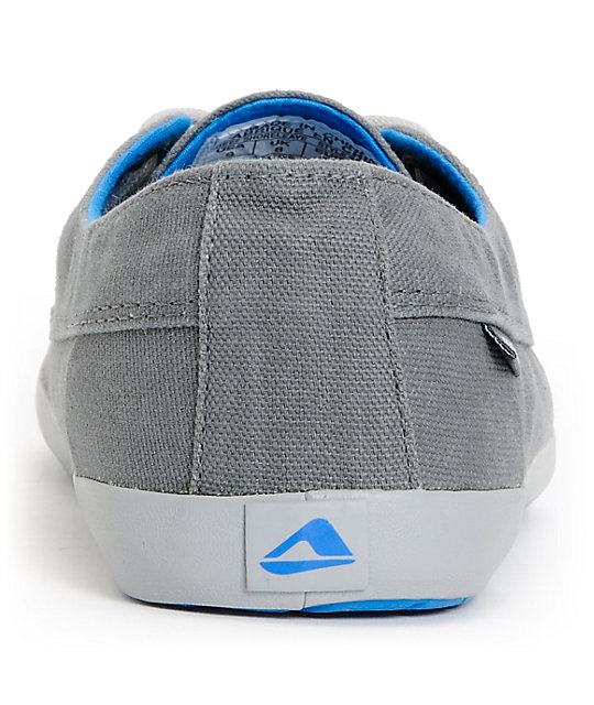 Reef Deckhand 2 Low Grey & Blue Boat Shoes