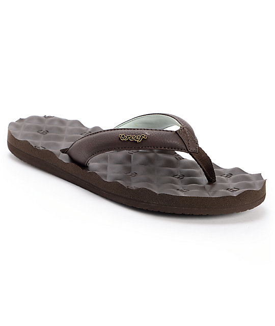Reef Dreams Brown & Mint Sandals