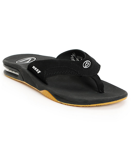 Reef Fanning Black Sandals