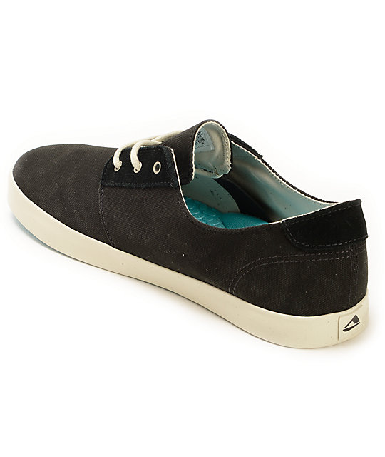 Reef Gallivant Black & White Canvas Shoes