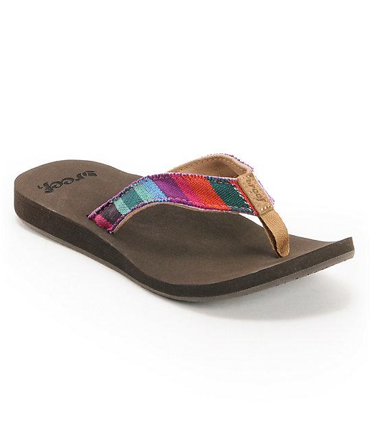 Reef Guatemalan Love Dark Brown Sandals