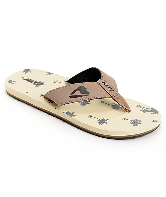 Reef Palms HT Prints Steeze Brown & Tan Sandals