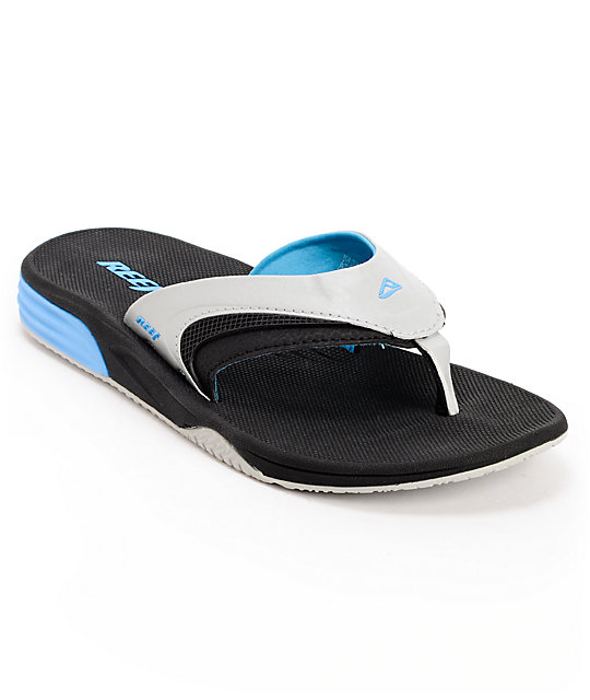 Reef Phantom Player Black, Grey & Blue Sandals