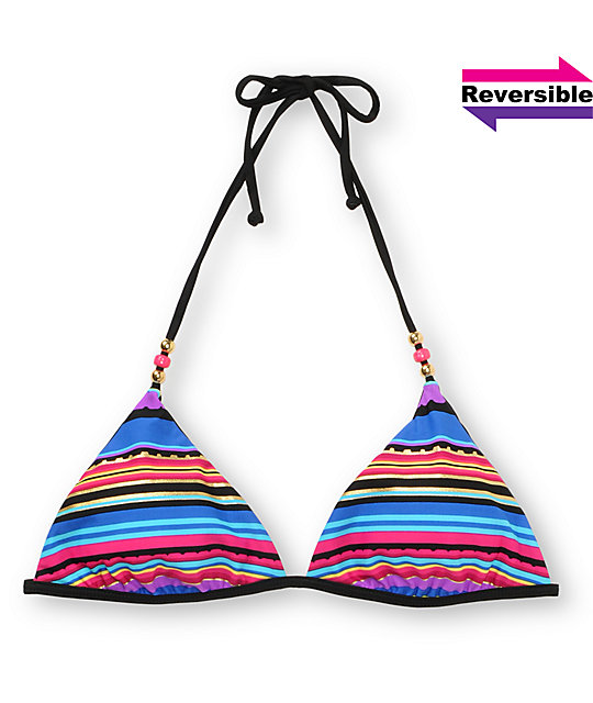Reef Tropic Black Reversible Triangle Top