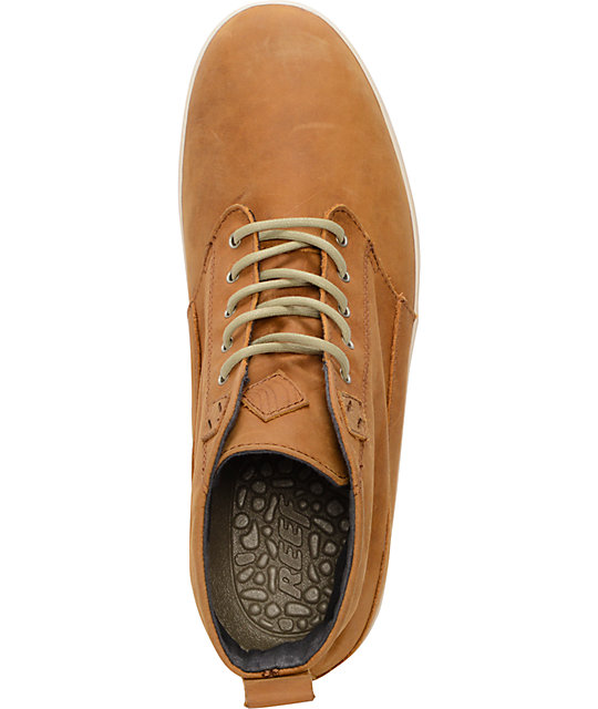 Reef Walled Brown Full Grain Leather Shoes