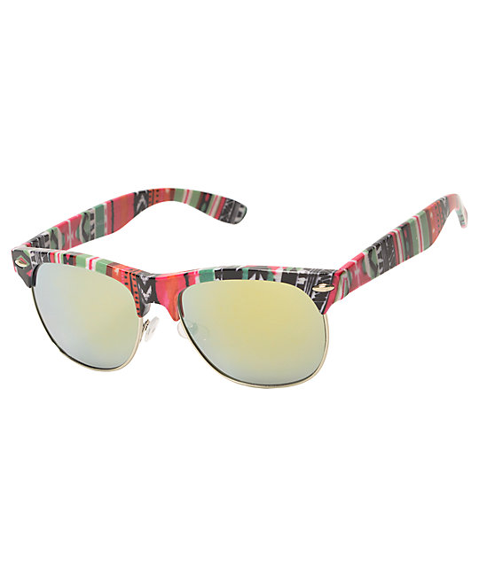Retro Club Tropical Tribe Bright Sunglasses