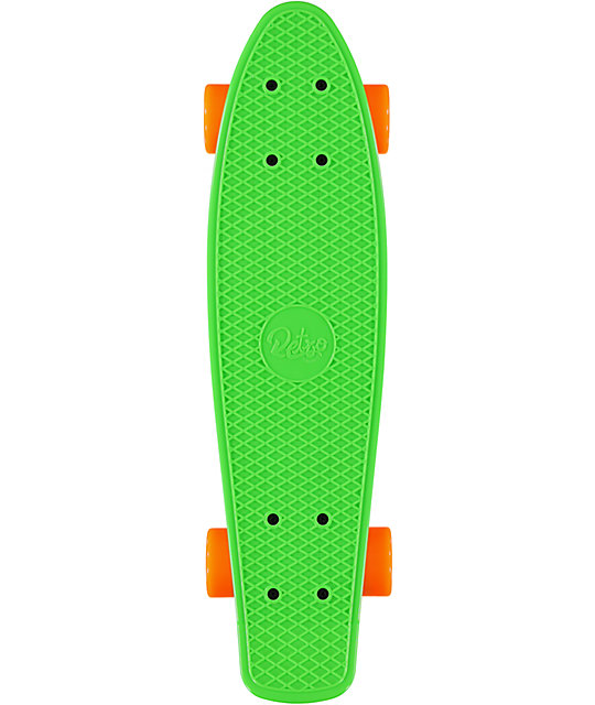 "Retro Skateboards Green, Orange, & Yellow 22.5""  Cruiser Complete"