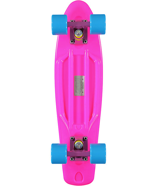 "Retro Skateboards Pink, Blue & Purple 22.5""  Cruiser Complete"