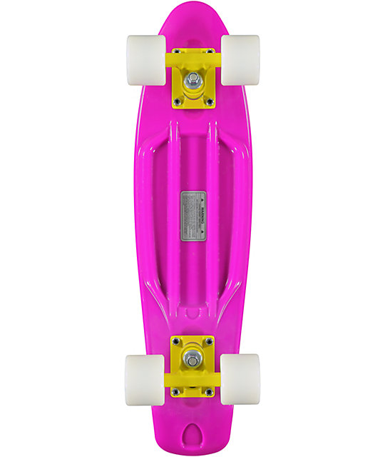 "Retro Skateboards Purple, White, & Yellow 22.5""  Cruiser Complete"
