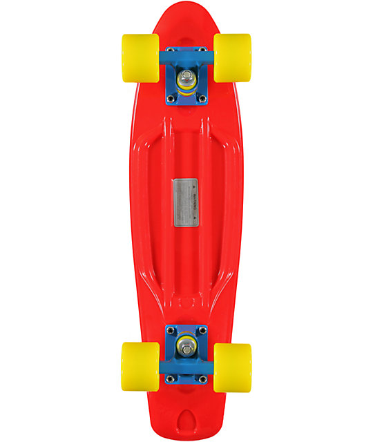 "Retro Skateboards Red, Yellow, & Blue 22.5""  Cruiser Complete"