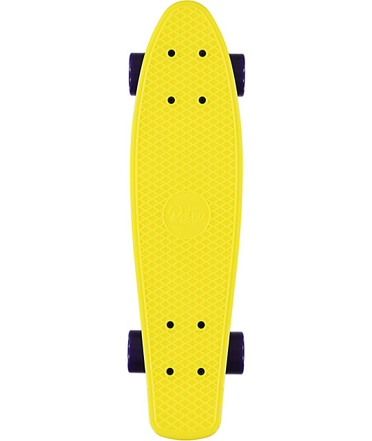 "Retro Skateboards Yellow, Purple, & Pink 22.5""  Cruiser Complete"