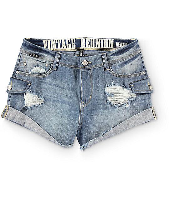 Rewash Vintage Reunion Cargo Shorts