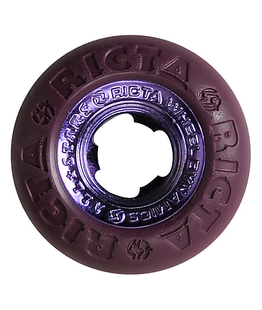 Ricta Chrome Core All Star 53mm Purple Skateboard Wheels
