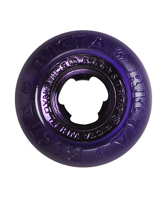 Ricta Crystal Chrome All Star 51mm Purple Skateboard Wheels