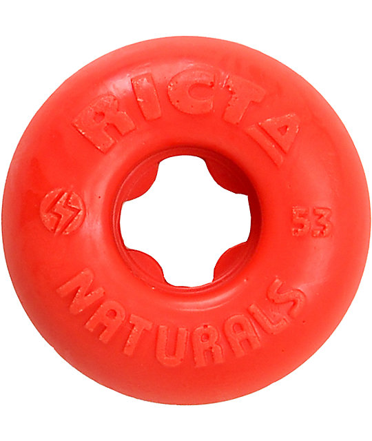 Ricta Natural Red 53mm Skateboard Wheels