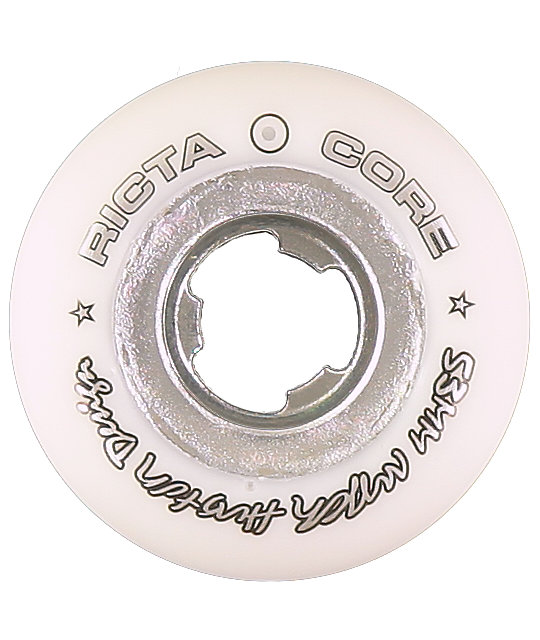 Ricta Nyjah White & Chrome Core 53mm Skateboard Wheels