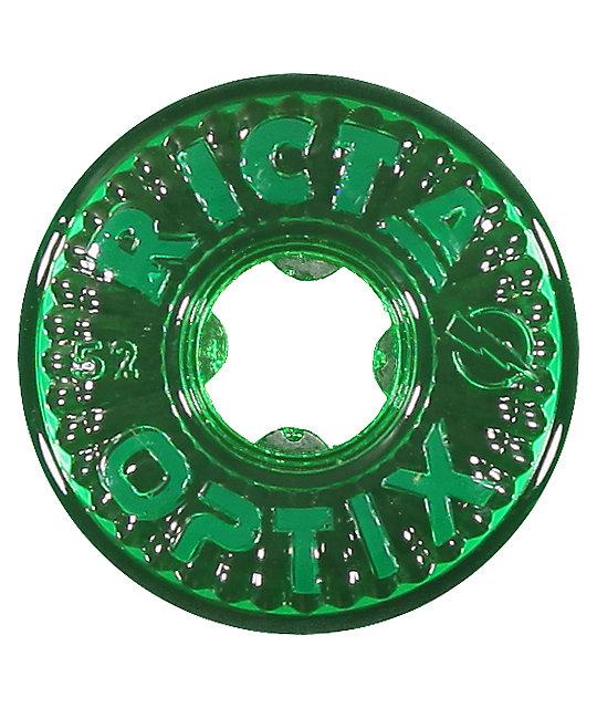 Ricta Optix Clear Green 52mm Skateboard Wheels