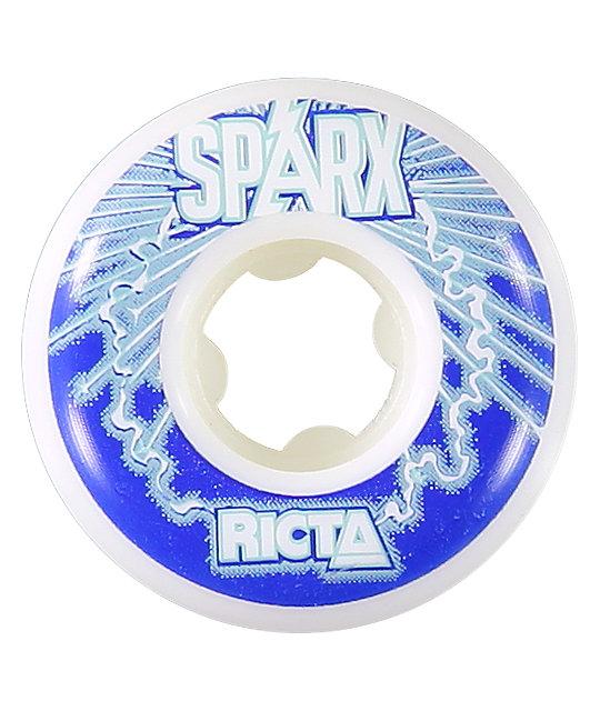 Ricta Sparx White & Blue 51mm Skateboard Wheels