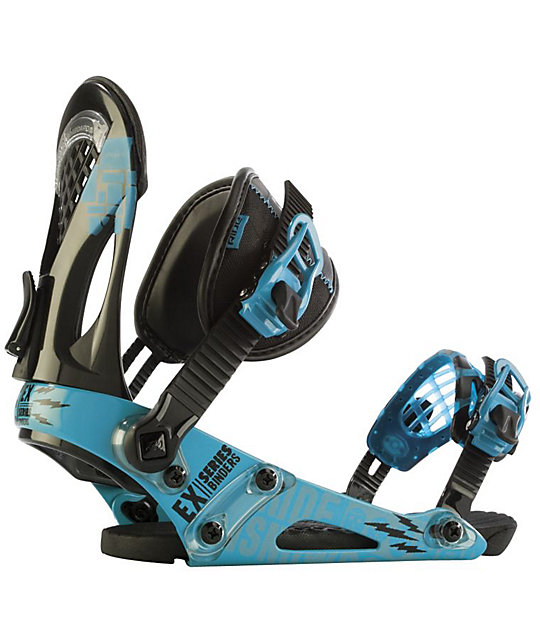Ride EX Blue Mens Snowboard Bindings