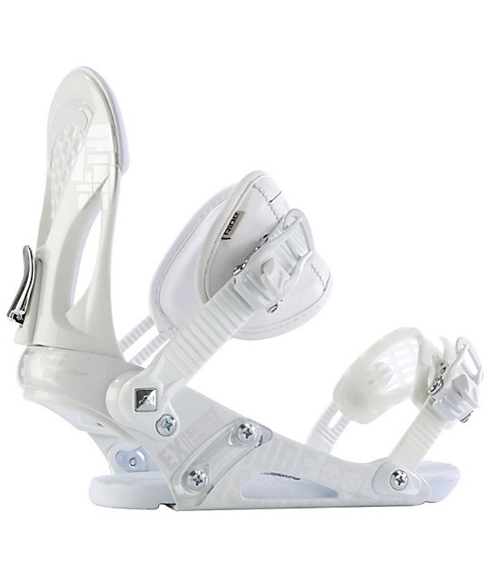 Ride EX White Snowboard Bindings