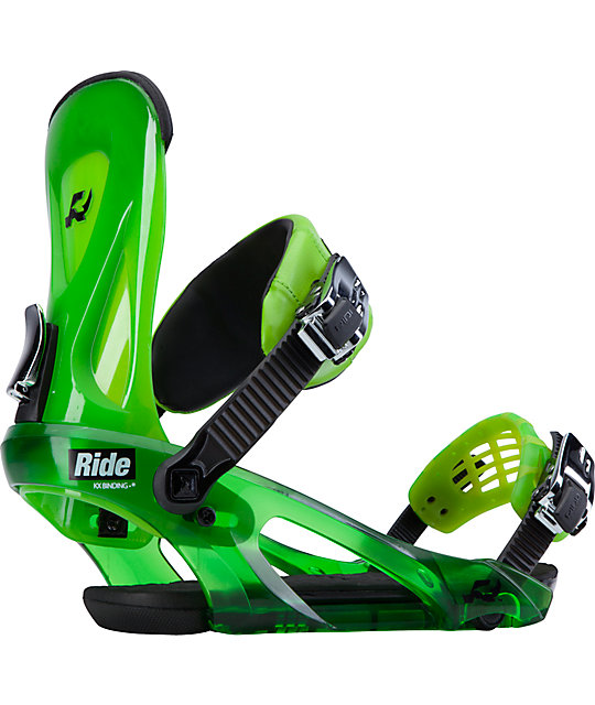 Ride KX Lime Green Snowboard Bindings