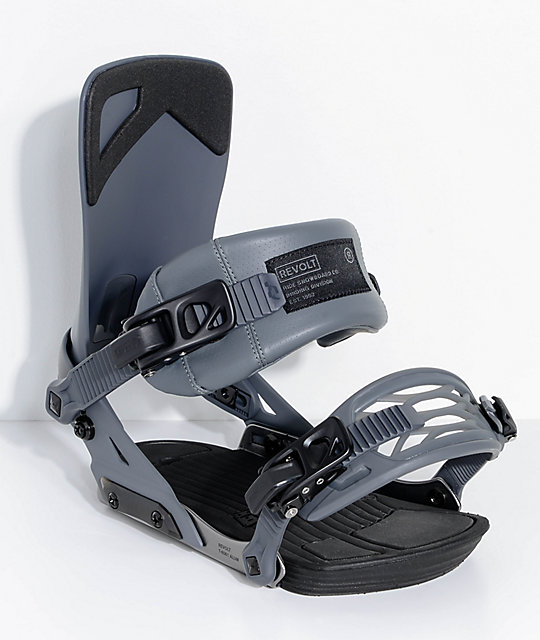 Ride Revolt Grey Snowboard Bindings
