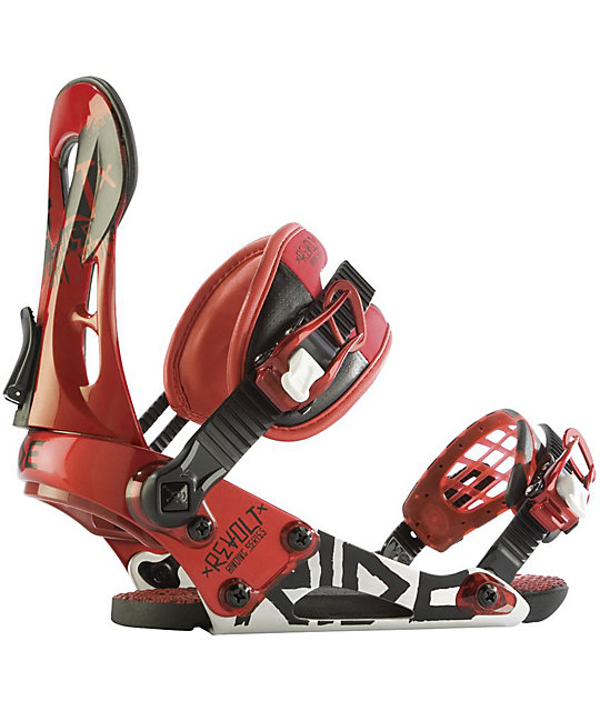 Ride Revolt Red Mens Snowboard Bindings