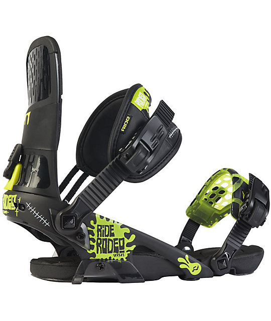 Ride Rodeo Black Mens Snowboard Bindings