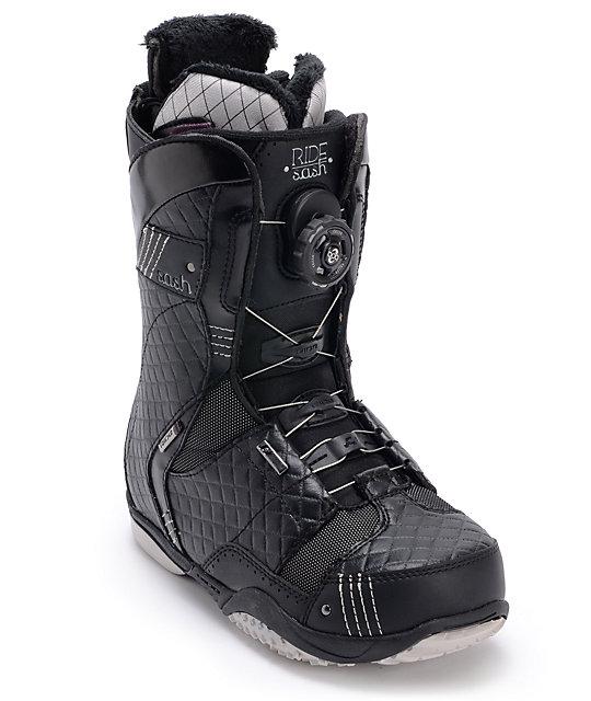 Ride Sash BOA Coiler Black Womens Snowboard Boots