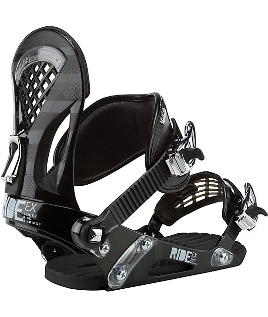 Ride Snowboards EX Black Snowboard Bindings